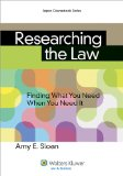 Researching the Law Finding What You Need When You Need It N/A edition cover