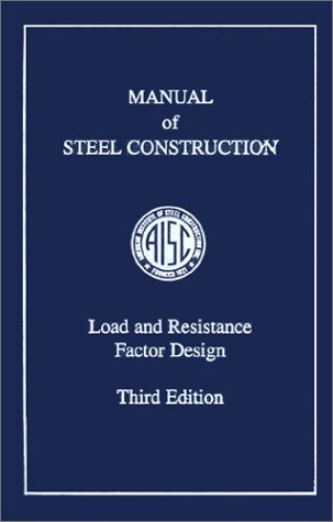 Manual of Steel Construction, Load and Resistance Factor Design, 3rd Edition  2001 edition cover