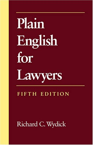 Plain English for Lawyers, Fifth Edition  5th 2005 edition cover