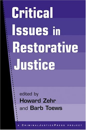 Critical Issues in Restorative Justice   2004 edition cover