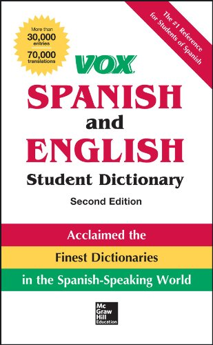 VOX Spanish and English Student Dictionary, Hardcover, 2nd Edition  2nd 2014 edition cover