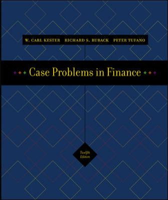 Case Problems in Finance 12th 2005 edition cover