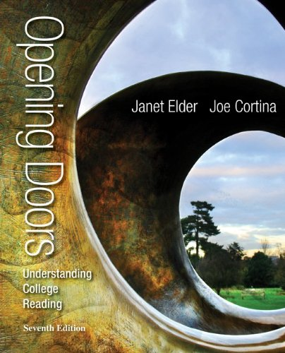 Opening Doors Understanding College Reading 7th 2014 edition cover