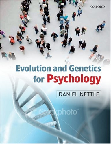 Evolution and Genetics for Psychology   2009 9780199231515 Front Cover
