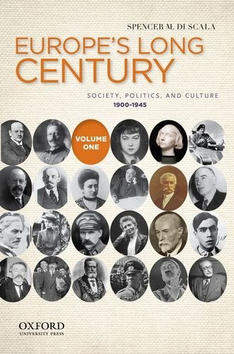 Europe's Long Century Society, Politics, and Culture, 1900-1945  2012 edition cover