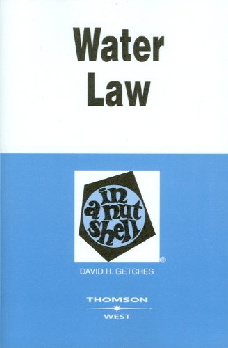 Water Law  4th 2009 (Revised) edition cover