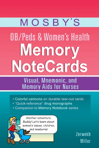 Mosby's OB/Peds and Women's Health Memory NoteCards Visual, Mnemonic, and Memory Aids for Nurses  2012 edition cover