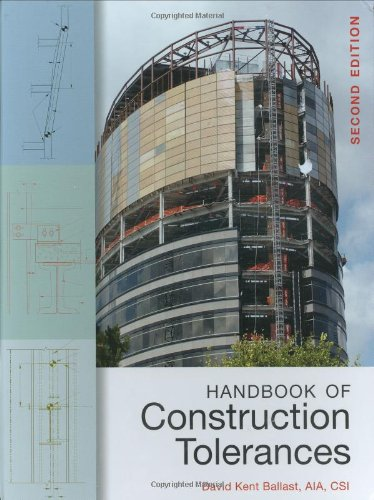 Handbook of Construction Tolerances  2nd 2007 (Revised) 9780471931515 Front Cover