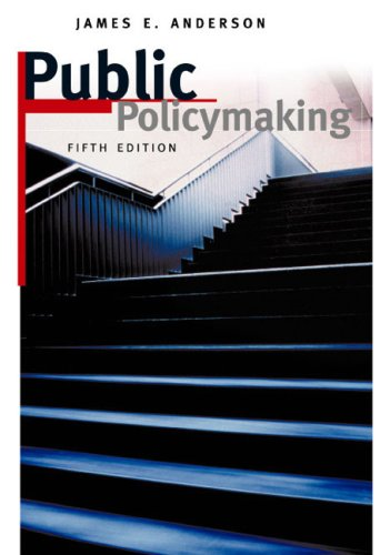 Public Policymaking 5th 2003 9780618215515 Front Cover