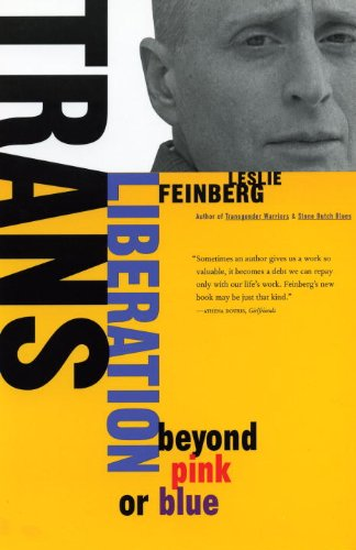 Trans Liberation Beyond Pink or Blue  1999 edition cover