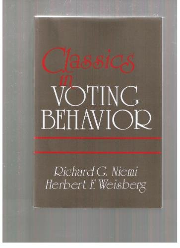 Classics in Voting Behavior   1992 (Revised) edition cover