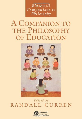 Companion to the Philosophy of Education   2005 edition cover