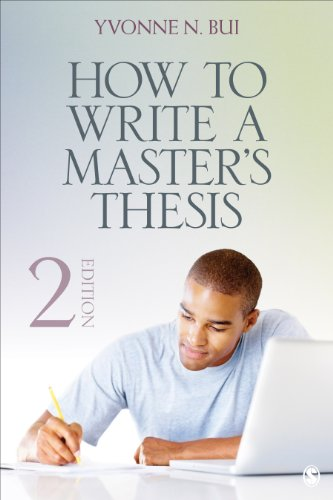 How to Write a Master's Thesis  2nd 2014 edition cover
