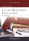Legal Research Explained  3rd 2014 edition cover