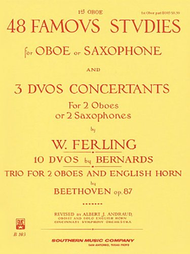 48 Famous Studies and 3 Duos Concertants for Oboe:   1968 edition cover