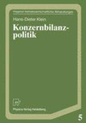 Konzernbilanzpolitik   1989 9783790804515 Front Cover