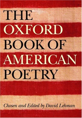 Oxford Book of American Poetry   2006 edition cover