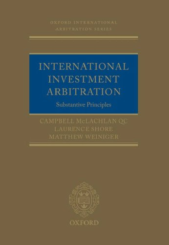 International Investment Arbitration Substantive Principles  2008 edition cover