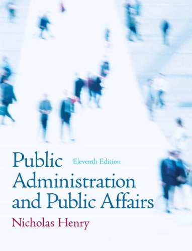 Public Administration and Public Affairs  11th 2010 edition cover