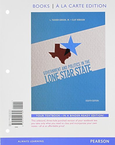 Govenment and Politics in the Lone Star State, Books a la Carte Plus NEW MyPolisciLab with EText -- Access Card Package  8th 2013 9780205979516 Front Cover