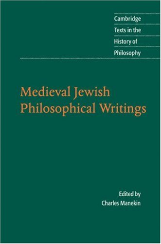 Medieval Jewish Philosophical Writings   2007 9780521549516 Front Cover