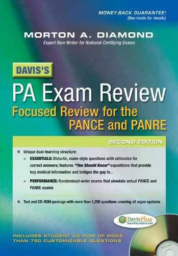 Davis's PA Exam Review Focused Review for the PANCE and PANRE 2nd 2013 (Revised) edition cover