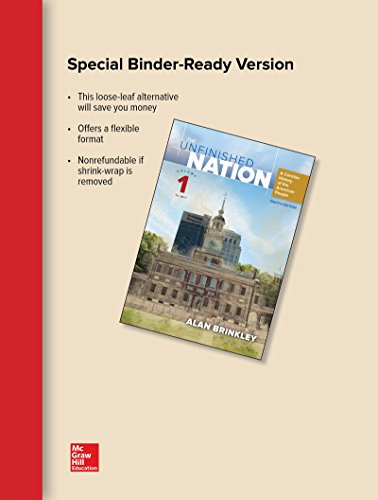 Looseleaf for the Unfinished Nation: a Concise History of the American People Volume 1  8th 2016 9781259722516 Front Cover