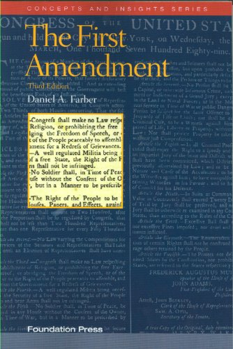 First Amendment, 3d  3rd 2010 (Revised) edition cover