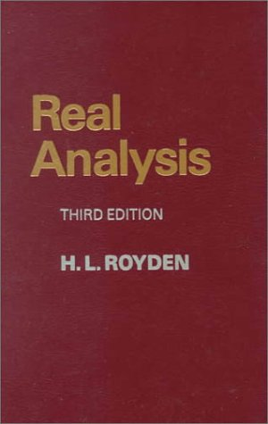 Real Analysis  3rd 1988 (Revised) edition cover