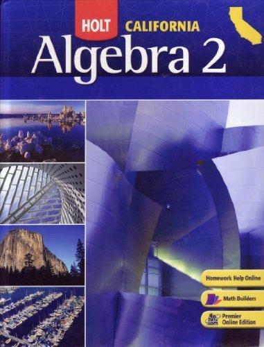 Algebra 2 Textbook:  2008 edition cover