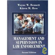 Management and Supervision in Law Enforcement 2nd 1996 9780314067517 Front Cover