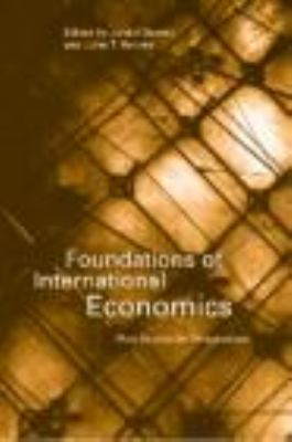 Foundations of International Economics Post-Keynesian Perspectives  1999 edition cover