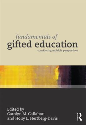 Fundamentals of Gifted Education Considering Multiple Perspectives  2013 edition cover