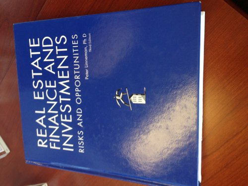 Real Estate Finance and Investments Risks and Opportunities, 3rd Edition 3rd 2011 edition cover