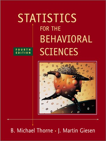 Statistics for the Behavioral Sciences  4th 2003 (Revised) edition cover