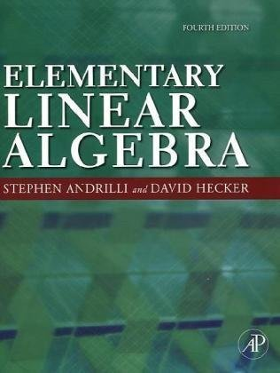 Elementary Linear Algebra  4th 2010 edition cover