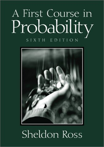 First Course in Probability  6th 2002 edition cover