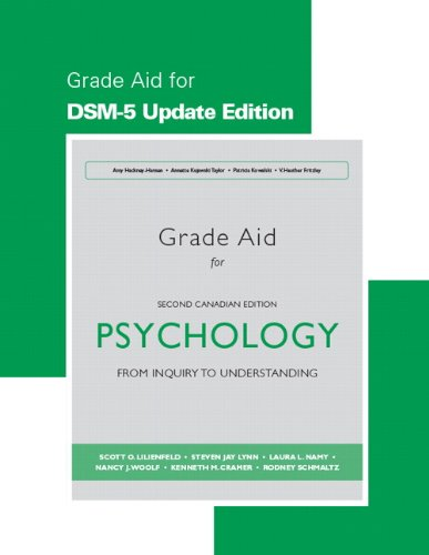 Study Guide for Psychology From Inquiry to Understanding, Second Canadian Edition, DSM-5 Update Edition 2nd 2015 9780133874518 Front Cover