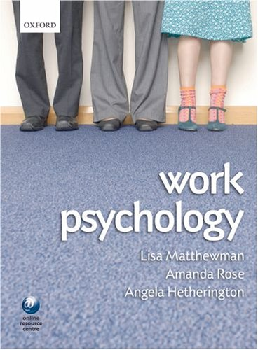 Work Psychology An Introduction to Human Behaviour in the Workplace  2009 edition cover