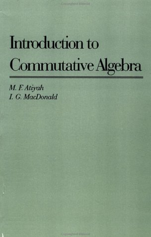 Introduction to Commutative Algebra   1969 edition cover