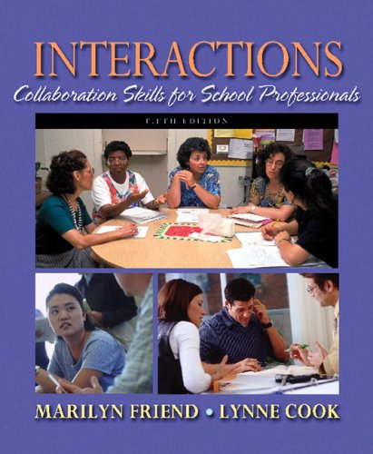 Interactions Collaboration Skills for School Professionals 5th 2007 edition cover