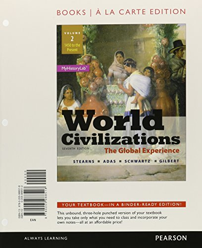 World Civilizations The Global Experience, Volume 2, Books a la Carte Edition 7th 2015 edition cover