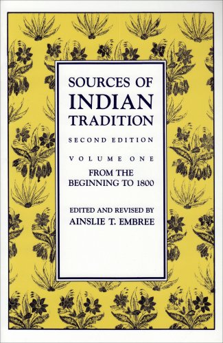 Sources of Indian Tradition From the Beginning to 1800 2nd edition cover