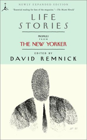 Life Stories Profiles from the New Yorker  2001 edition cover