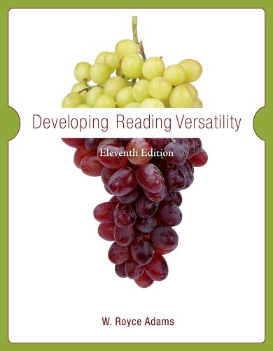 Developing Reading Versatility  11th 2011 edition cover