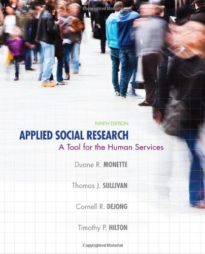 Applied Social Research A Tool for the Human Services 9th 2014 edition cover
