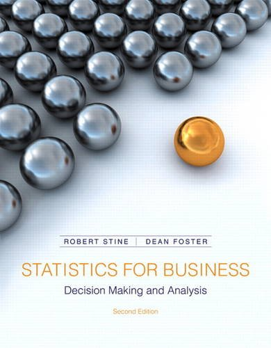Statistics for Business Decision Making and Analysis 2nd 2014 edition cover