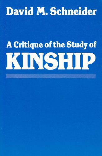 Critique of the Study of Kinship   1984 edition cover