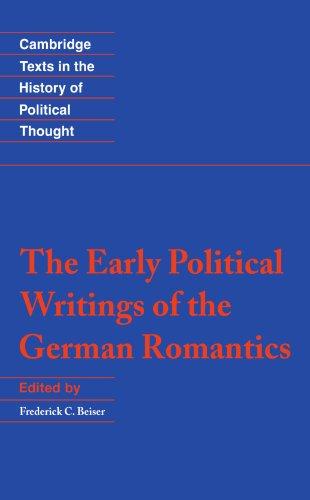 Early Political Writings of the German Romantics   1996 edition cover
