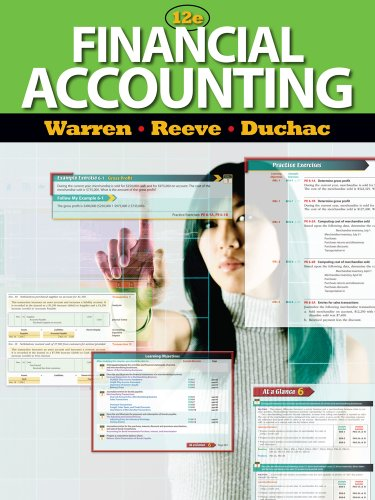 Financial Accounting  12th 2012 edition cover